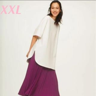 ジーユー(GU)の新品❤︎ヘビーウェイトオーバーサイズT❤︎ジーユー XXL オフホワイト (Tシャツ(半袖/袖なし))
