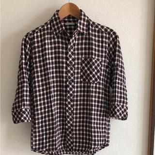 ジーユー(GU)のGU 七分袖チェックシャツ(シャツ)