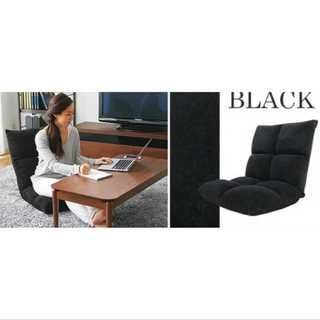ブラック/座椅子/低反発/もっちり/42段階調整/コンパクト(ペインターパンツ)