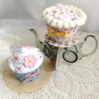 サクラカップケーキ2個セット(インテリア雑貨)