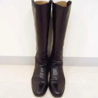 サルトル(SARTORE)のサルトル バックジップ ロングブーツ 黒 38 Sartore Zara (ブーツ)