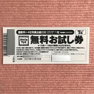 ★カメラのキタムラ スタジオマリオ無料お試し券 (アルバム)