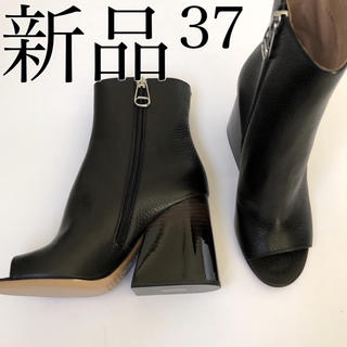 マルタンマルジェラ(Maison Martin Margiela)の新 品 メゾン マルジェラ グラデーションヒール オープントゥ ブーツ サンダル(ブーツ)