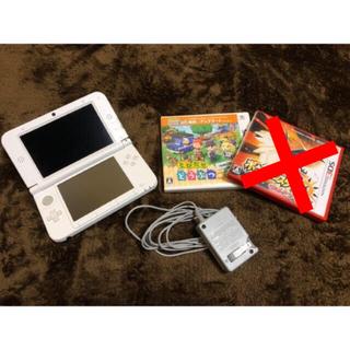 ニンテンドー3DS(ニンテンドー3DS)のNINTENDO 3DS LL 本体+充電器+ゲームソフト2本 4点セット(携帯用ゲーム本体)