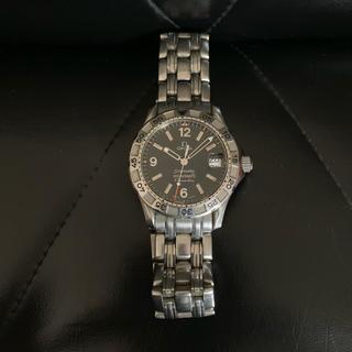 オメガ(OMEGA)のオメガOMEGAシーマスター黒 オメガマチック腕時計オートクォーツ ジャンク品(腕時計(アナログ))