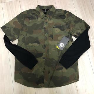 ボルコム(volcom)の新品 VOLCOM ロンT 迷彩シャツ 12y L 150(Tシャツ/カットソー(七分/長袖))