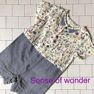センスオブワンダー(sense of wonder)のゆひかご様専用!!   Sense of wonderロンパース 70 (ロンパース)