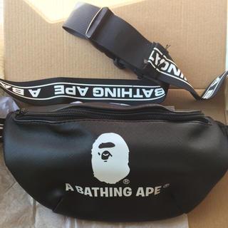 アベイシングエイプ(A BATHING APE)の新品 ベイシング エイプ A BATHING APE レザー調 ウエストバッグ(ウエストポーチ)