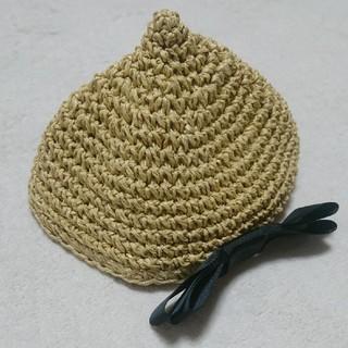 シマムラ(しまむら)の【試着のみ】ママラク キッズ リボン付き どんぐり帽子(帽子)