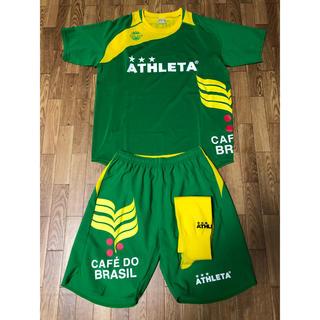 アスレタ(ATHLETA)のフットサル アスレタ ATHLETA上下セット半袖+ソックス 緑×黄色 美品(ウェア)