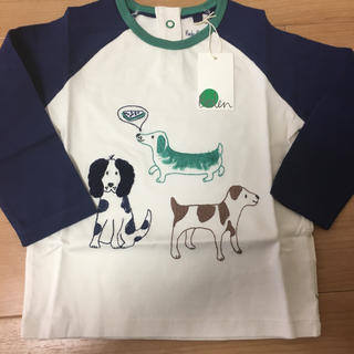 ボーデン(Boden)の《新品 未使用》ベビーボーデン ドッグ 柄 ロングTシャツ 98センチ(Tシャツ/カットソー)
