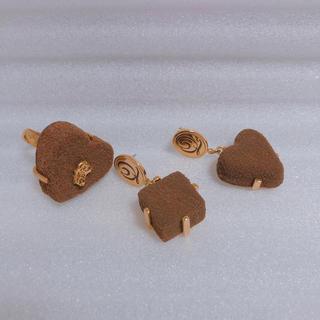 キューポット(Q-pot.)のQ-pot. チョコレート ピアス 指輪 リング(リング(指輪))