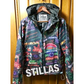 スタイラス(StilLas)のSTILLAS 総柄パーカ マウンテンパーカー 総柄ジャケット ビックシルエット(マウンテンパーカー)