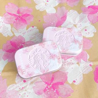 Starbucks Coffee - 2個 スターバックス アフターコーヒーミント スタバ サクラ さくら 缶 ケース