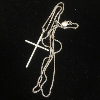 ダミアーニ  クロス ネックレス K18 WG 750 ホワイトゴールド ダイヤ