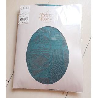 ヴィヴィアンウエストウッド(Vivienne Westwood)の新品 ヴィヴィアンウェストウッド 柄タイツ ターコイズ(タイツ/ストッキング)