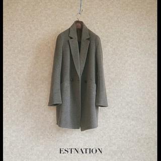 エストネーション(ESTNATION)の上級 美品 エストネーション おしゃれグレー シックモダンチェスターコート(チェスターコート)
