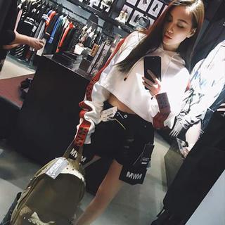 韓国ファッション ショート フード パーカー(パーカー)