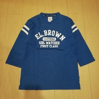 エルブラウン(EL.Brown)のElbrown football tee エルブラウン フットボール 七分袖(Tシャツ/カットソー(七分/長袖))