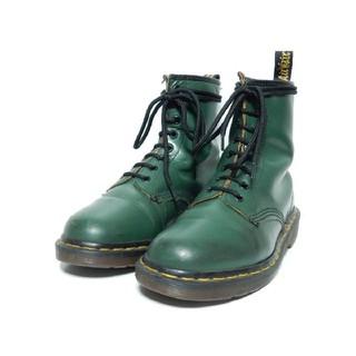 ドクターマーチン(Dr.Martens)の茶芯レザー&レアカラーグリーン!英国製!ドクターマーチン8ホールUK5(ブーツ)