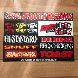 ハイスタンダード(HIGH!STANDARD)のPIZZA OF DEATH RECORDS 非売品 ステッカー (ミュージシャン)