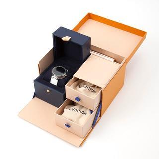 ルイヴィトン(LOUIS VUITTON)のタンブール ホライゾン コネクテッドウォッチ QA002Z ホワイト モノグラム(腕時計(デジタル))