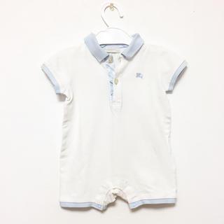 バーバリー(BURBERRY)の☆ バーバリー 70 ロンパース カバーオール ポロシャツ チェック 半袖 ☆(ロンパース)