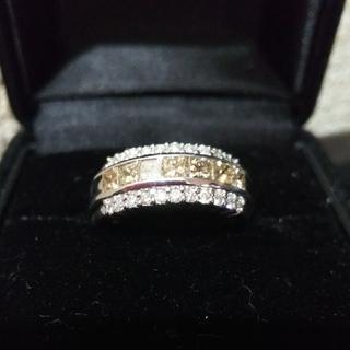 K18WG☆1カラット ダイヤモンドリング(リング(指輪))