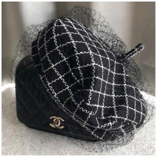 ザラ(ZARA)の新品未使用♡チュールベレー帽♡チェック(ハンチング/ベレー帽)