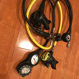 アクアラング(Aqua Lung)の美品 ダイビング 重器材セット アクアラング ヘレイワホ (マリン/スイミング)
