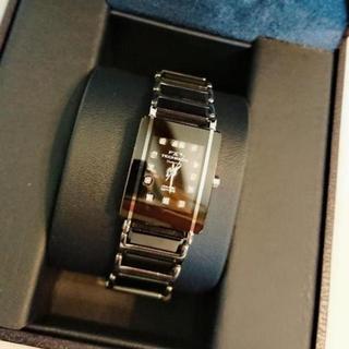 テクノス(TECHNOS)の値下げ!未使用!TECHNOS ☆セラミック サファイアガラス ダイヤ13石(腕時計)
