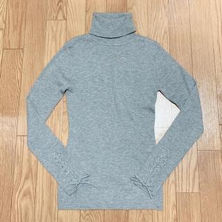 エゴイスト(EGOIST)の袖レースアップニット 薄ニット(ニット/セーター)