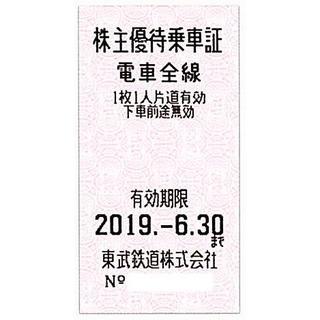 東武鉄道 株主優待乗車証[切符10枚]/2019.6.30まで(鉄道乗車券)