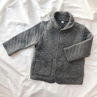 ムジルシリョウヒン(MUJI (無印良品))の無印良品キルティングジャケットコート90 ベビー男の子(ジャケット/上着)