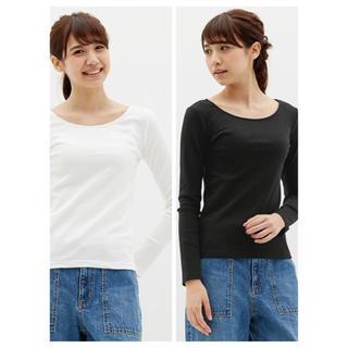 ジーユー(GU)の【GU】黒トップス(Tシャツ(長袖/七分))