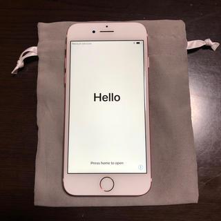 アップル(Apple)のiPhone 7 Rose Gold 128 GB Softbank(スマートフォン本体)