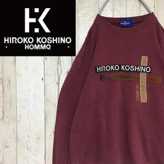 ヒロココシノ(HIROKO KOSHINO)の【ヒロココシノ】【ビッグロゴ】【全刺繍】【スウェット】(スウェット)