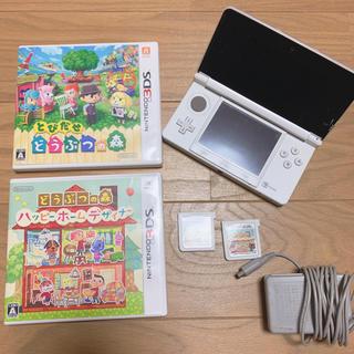 ニンテンドー3DS(ニンテンドー3DS)の3DS  本体 充電器 ソフトセット どう森(携帯用ゲーム本体)
