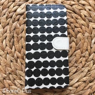 マリメッコ(marimekko)のiPhone6 Plus ハンドメイド ラシィマット 手帳携帯ケース(iPhoneケース)