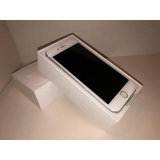 アップル(Apple)の画面新品フィルム付き iPhone6 au 128GB Silver(スマートフォン本体)