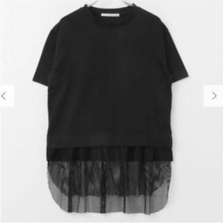ケービーエフ(KBF)の【新品未使用タグ付】KBF アーバンリサーチ メッシュレイヤードTシャツ 黒(Tシャツ(半袖/袖なし))