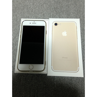 アイフォーン(iPhone)のiPhone7 SIMフリー 128ギガ ゴールド (スマートフォン本体)