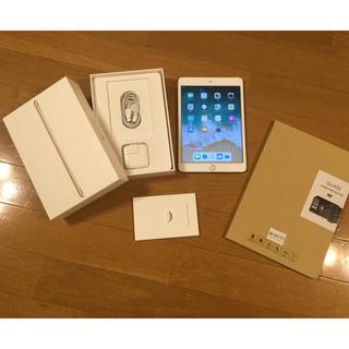 アイパッド(iPad)の【美品】iPad mini3 64GB WiFiモデル ゴールド 強化ガラス付き(タブレット)