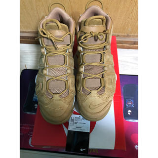 ナイキ(NIKE)のNIKE AIR MORE UPTEMPO '96 PRM FLAX WHEAT(スニーカー)