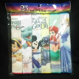 ディズニー(Disney)のディズニーランド ミニタオル 6枚セット 25周年(タオル)