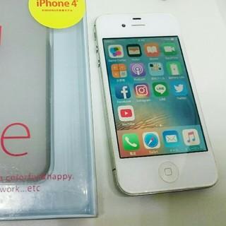アイフォーン(iPhone)のiPhone4s 16GByte+ケース simトレー A1387(スマートフォン本体)