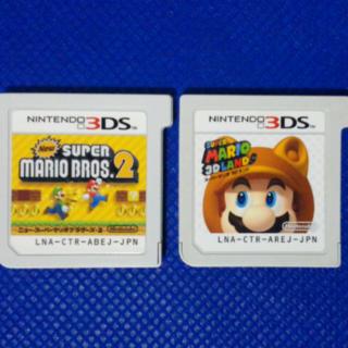 ニンテンドー3DS(ニンテンドー3DS)の2個マリオセット バラ売り可能(携帯用ゲームソフト)
