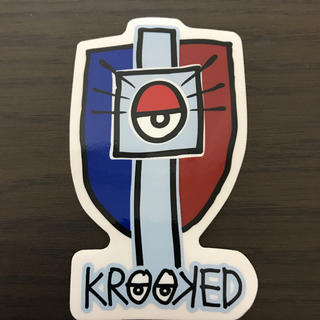 KROOKED - 【縦10cm横6cm】krookedステッカー