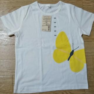 ムジルシリョウヒン(MUJI (無印良品))の無印良品 オーガニックコットン プリントTシャツ キッズ ちょう(Tシャツ/カットソー)