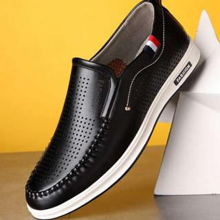 ■26.0cm■ブラック スニーカー ローファー 革靴 スリッポン ウォーキング(スニーカー)